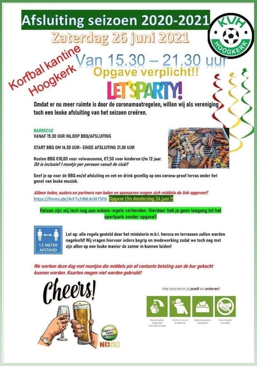 Seizoensafsluiting 2020-2021 @ KV Hoogkerk